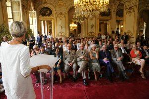 L'assemblée des personnalités, lauréats, invités, partenaires, membres de CiDAN.